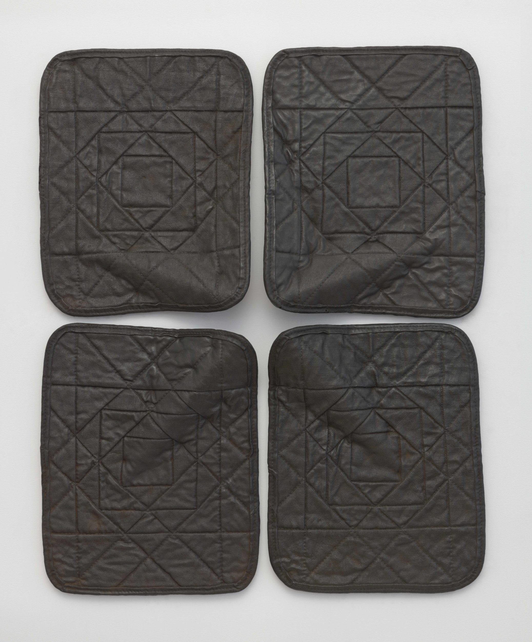 Gavin Kenyon, Star Quilt, 2017 | Cast iron Four parts; 19 1/2 x 15 1/2 x 3 1/2 inches each 39 3/4 x 32 1/2 x 3 1/2 inches overall